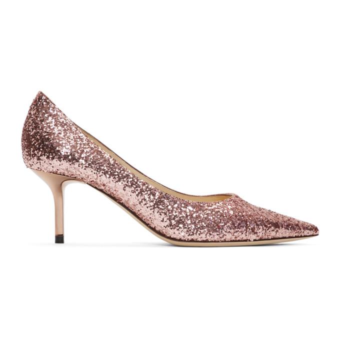 Pink Glitter Love 65 Heels by Jimmy Choo