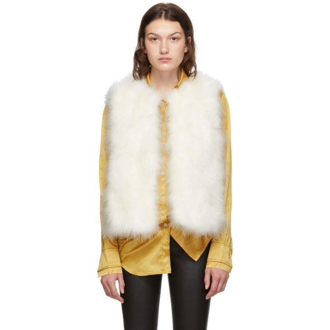 White Feather Vest by Yves Salomon