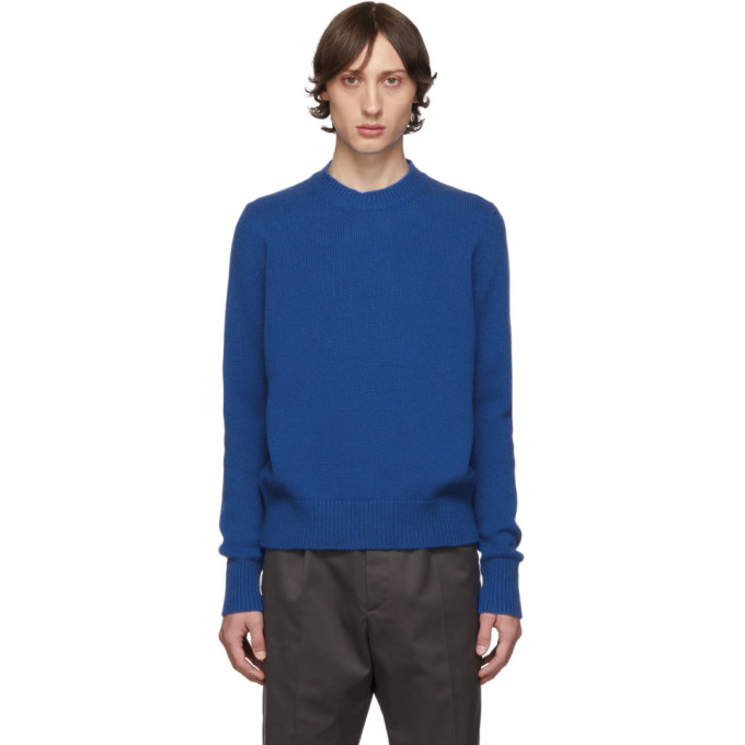 Blue Five Gauge Crewneck Sweater by Studio Nicholson