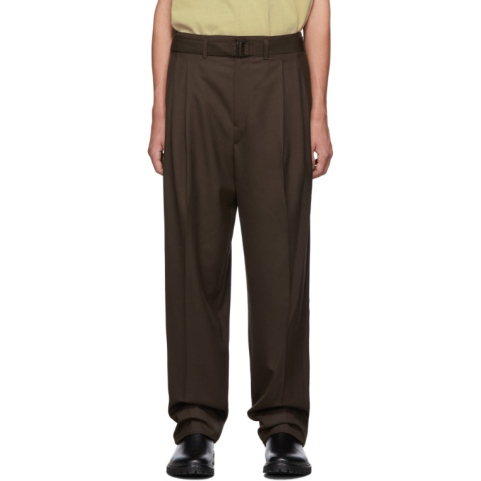 Brown Pleated Trousers by Lemaire