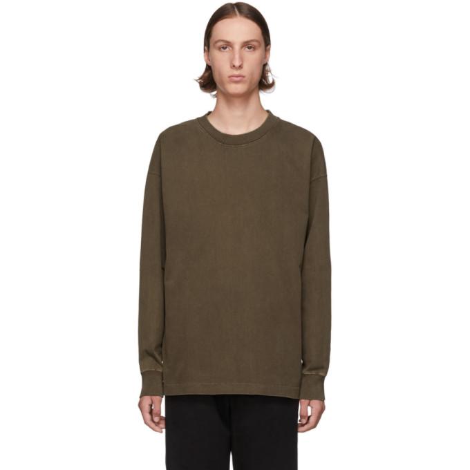 Brown Half Raglan Sweatshirt by Lemaire