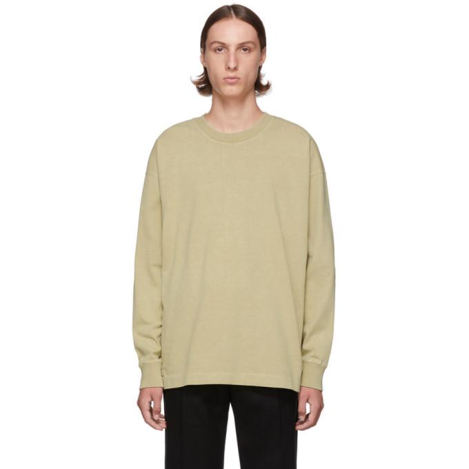 Tan Half Raglan Sweatshirt by Lemaire