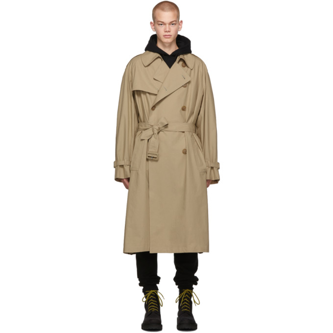 Beige New Classic Trench Coat by Vetements