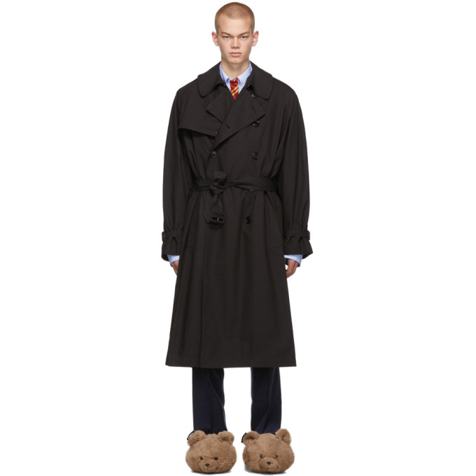 Black New Classic Trench Coat by Vetements