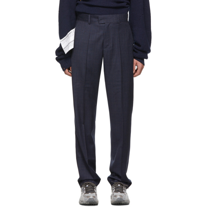 Navy New Classic Trousers by Vetements
