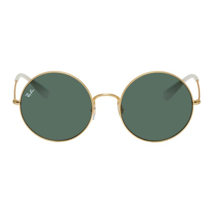 Gold & Green Ja Jo Sunglasses by Ray Ban