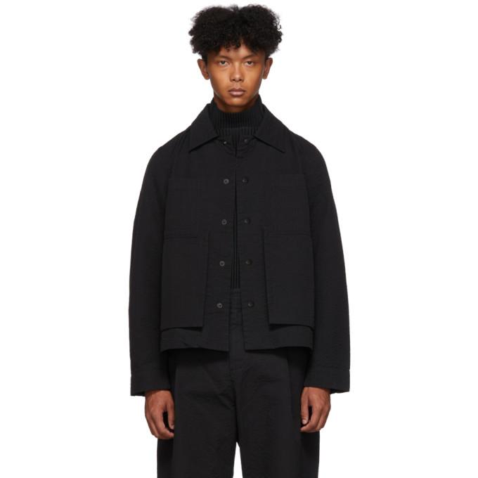Black Line Stitch Worker Jacket by Craig Green