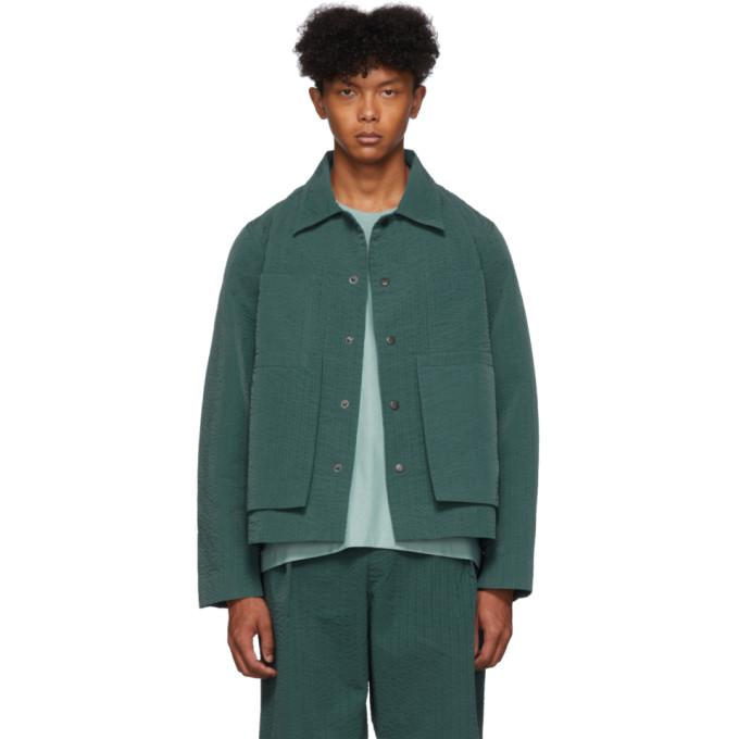 Green Line Stitch Worker Jacket by Craig Green
