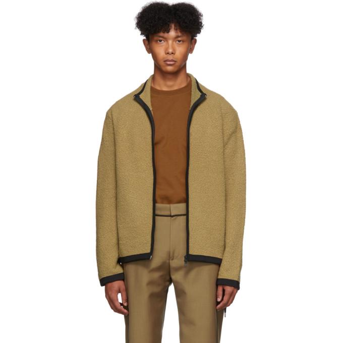 Beige Bouclé Zip Up Sweater by Craig Green