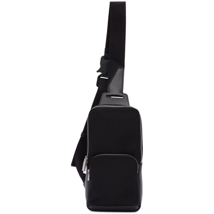 Black Satin Crossbody Bag by 1017 Alyx 9 Sm