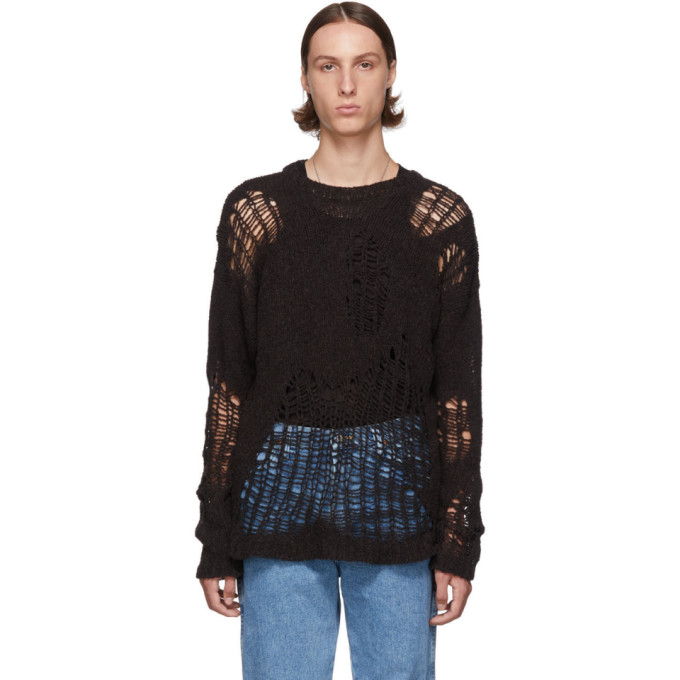 Brown Popover Roundneck Sweater by Our Legacy