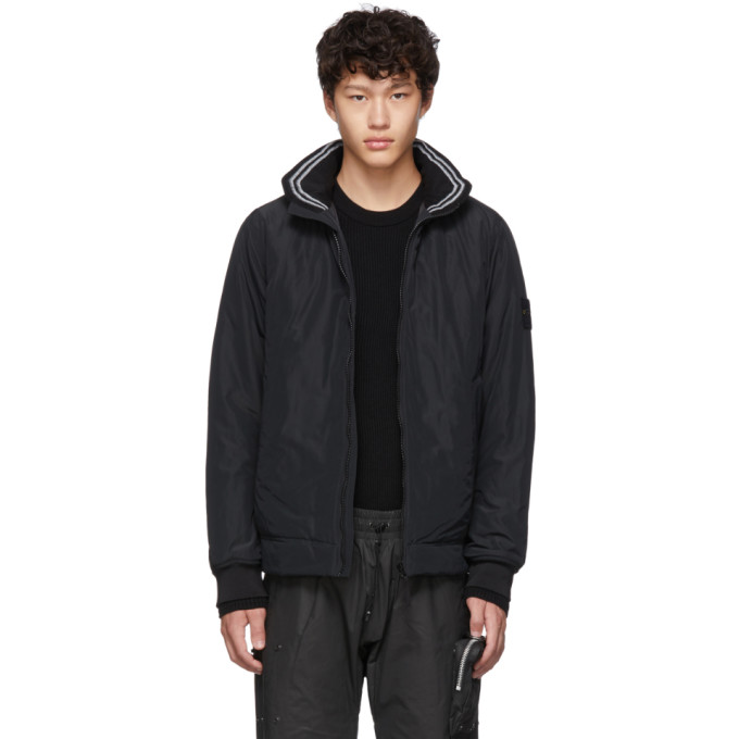 Black Micro Reps Jacket by Stone Island
