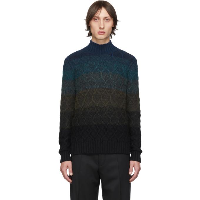 Blue Wool Turtleneck by Missoni