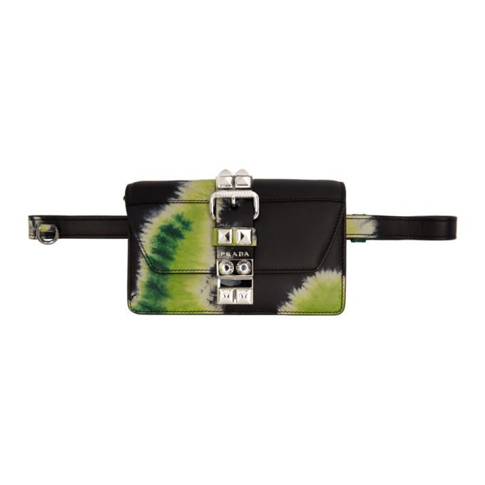 Ssense Exclusive Black Tie Dye Elektra Bag by Prada