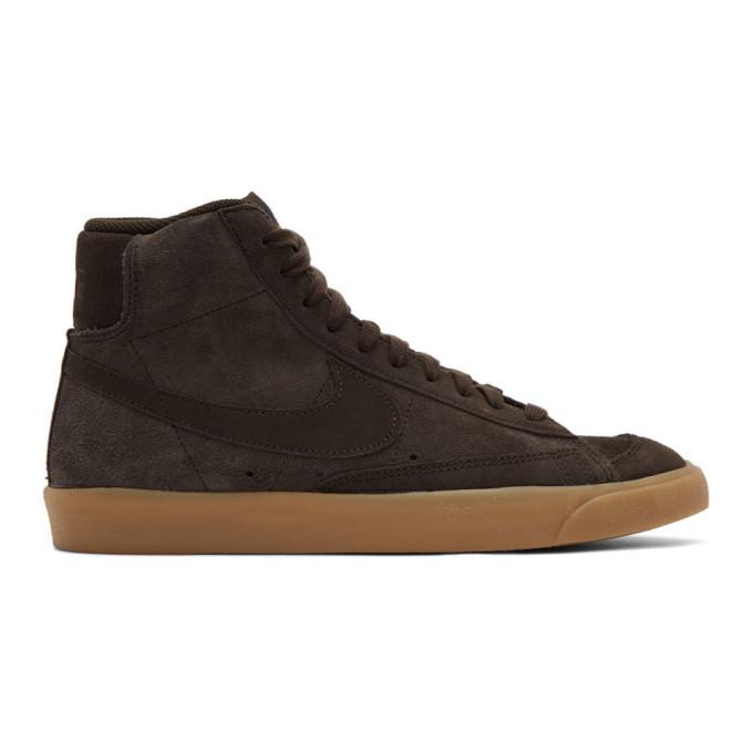Brown Suede Mid'77 Sneakers by Nike