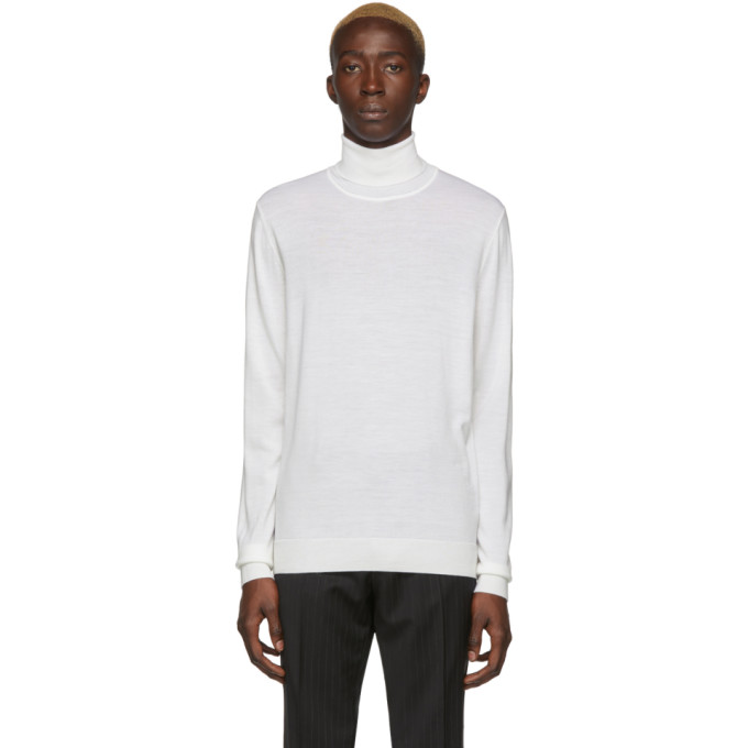 White Gideo Turtleneck by Boss