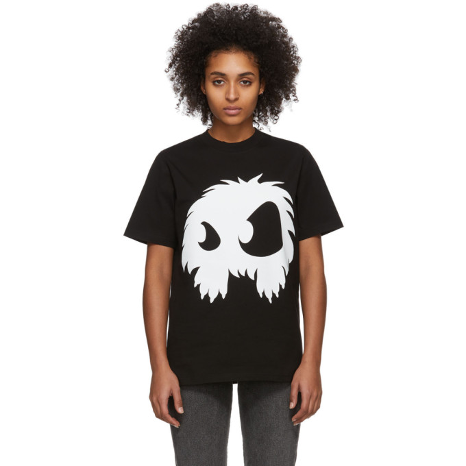 Black & White Mad Chester T Shirt by Mcq Alexander Mcqueen