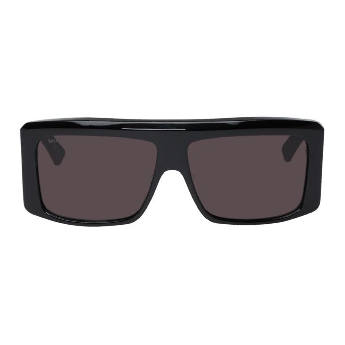 black-oversized-flat-top-sunglasses by balenciaga