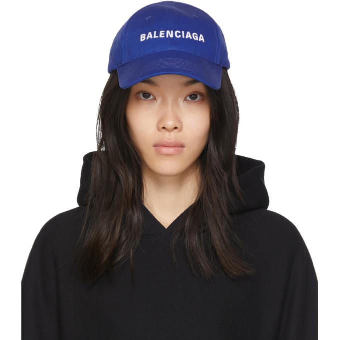 blue-logo-visor-cap by balenciaga