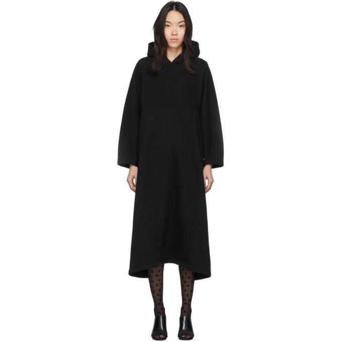black-cocoon-hooded-sweatshirt-dress by balenciaga
