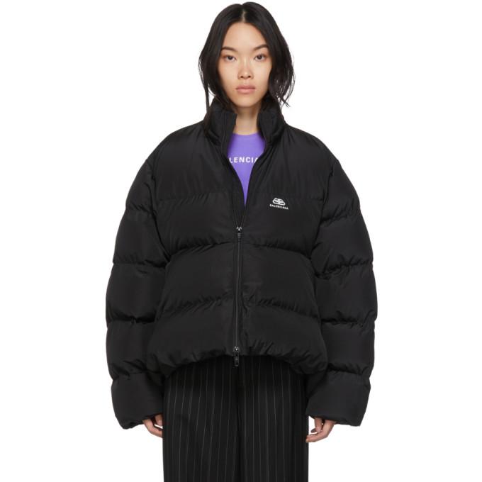 black-bb-c-shape-puffer-coat by balenciaga