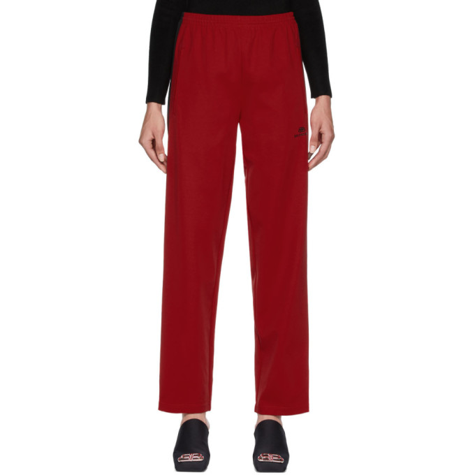 red-tracksuit-lounge-pants by balenciaga