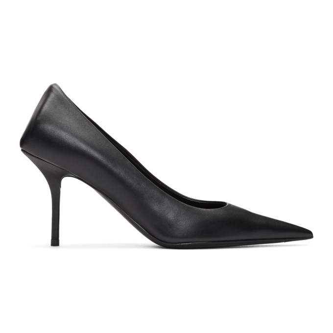black-leather-square-knife-pumps by balenciaga