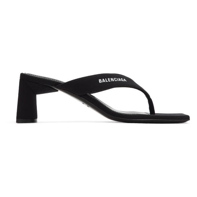 black-flip-flop-heels by balenciaga