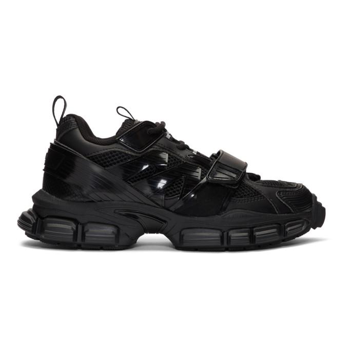 Black Strap Point Sneakers by Juun.J