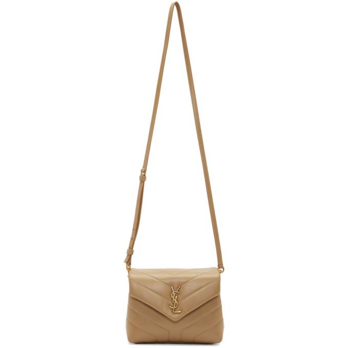 Beige Toy Loulou Bag by Saint Laurent