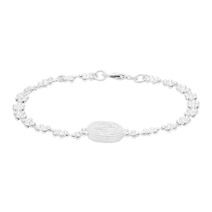 Silver Interlocking G Bracelet by Gucci