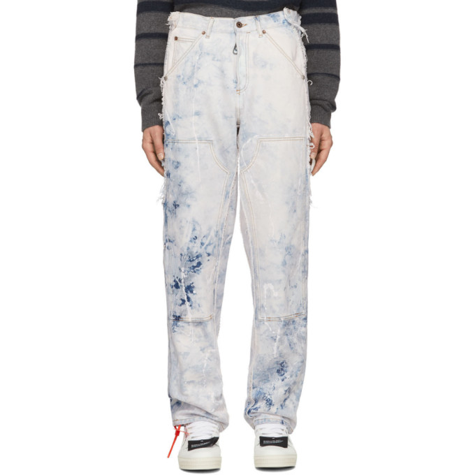 Off White Reconstructed Carpenter Jeans by Off White