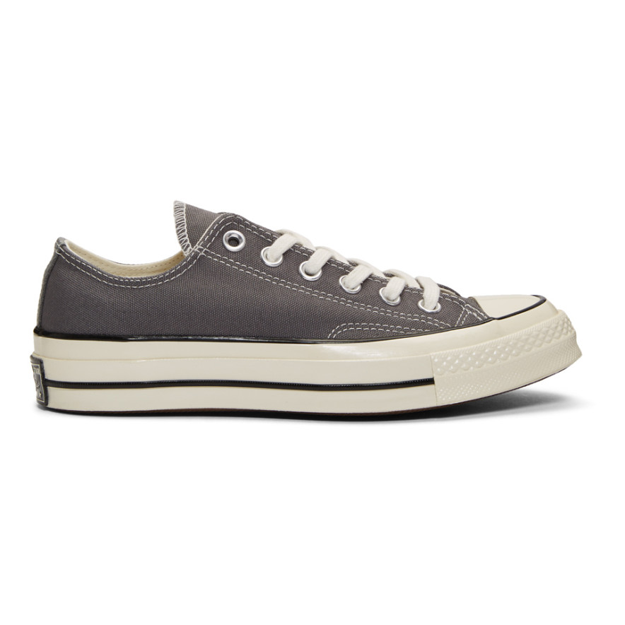 Grey Chuck 70 Low Sneakers by Converse