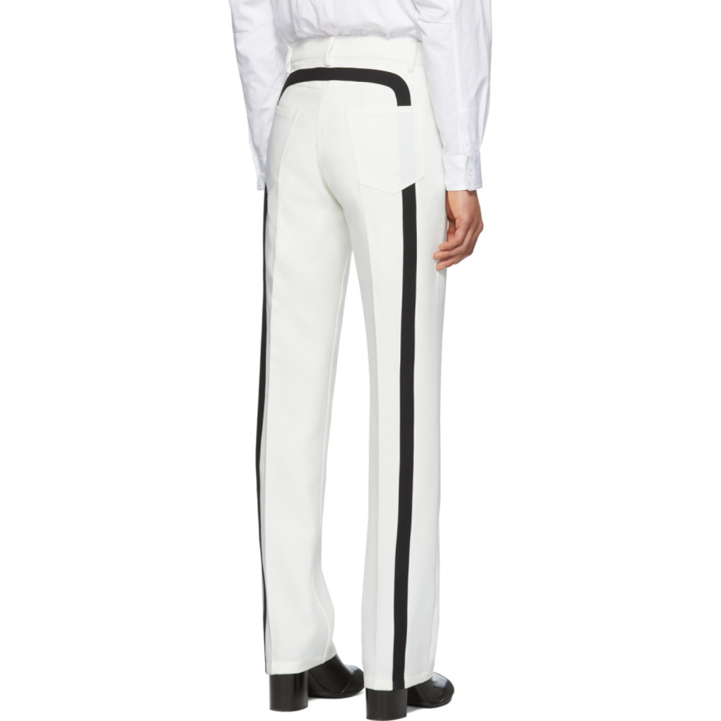 White Officer Five Pocket Trousers by Random Identities