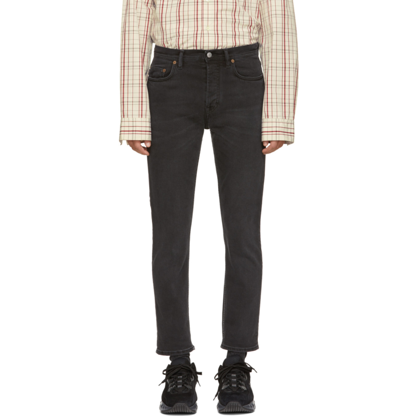 Black Blå Konst River Jeans by Acne Studios