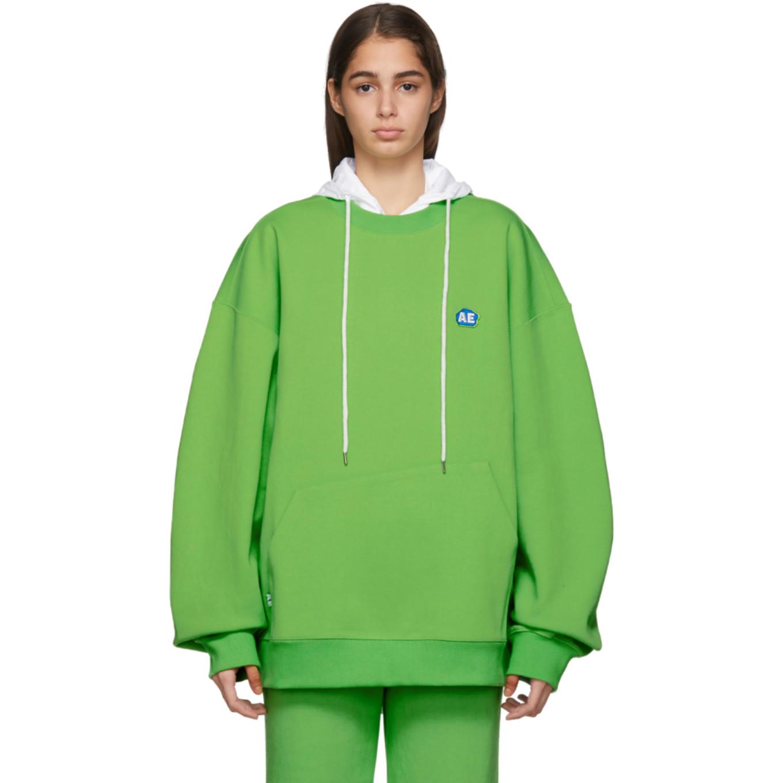 Green Stone Logo Sweatshirt by Ader Error