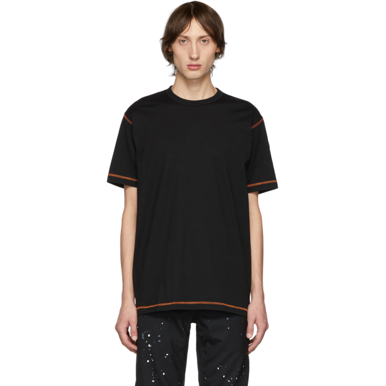 Black Seamed T Shirt by Comme Des GarÇons Homme