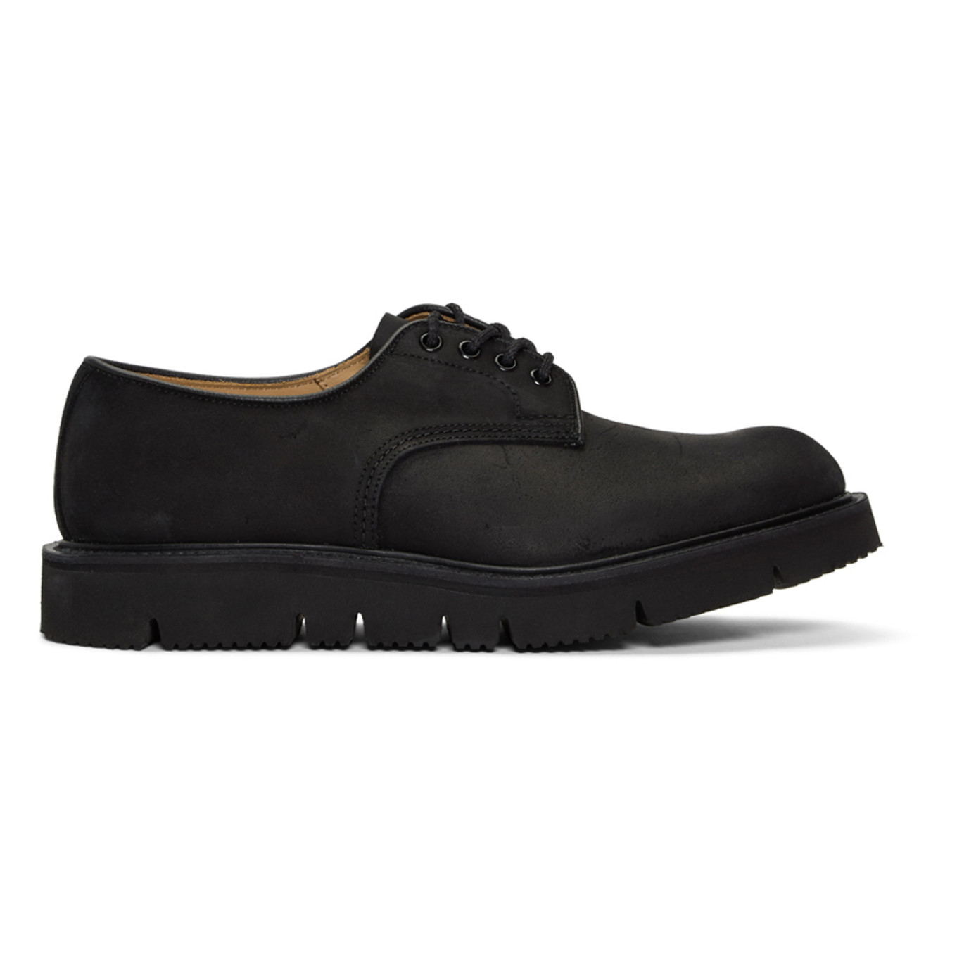 Black Tricker's Edition Waxy Commander Tramping Derbys by Comme Des GarÇons Homme