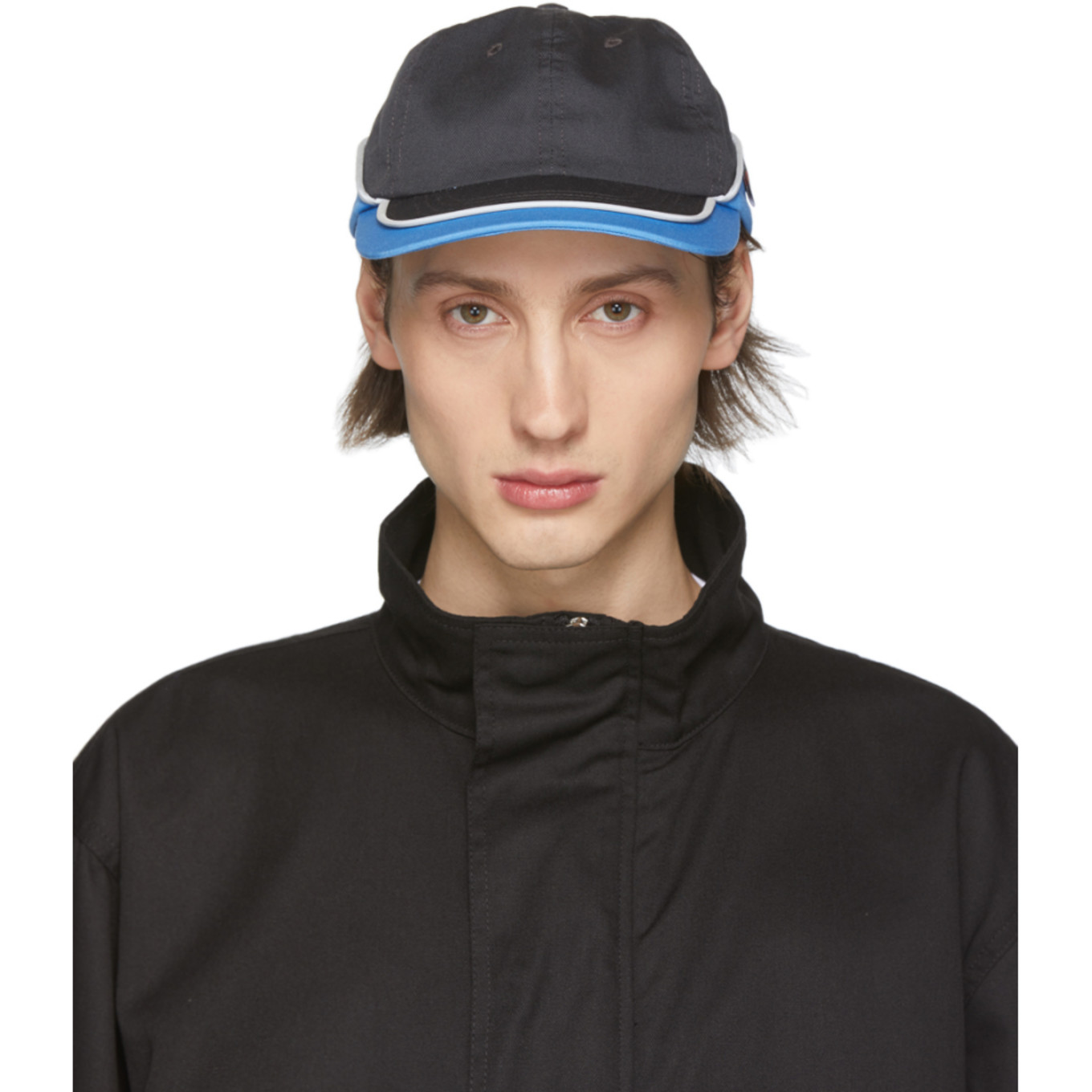 Blue & Grey Worker Cap by Affix