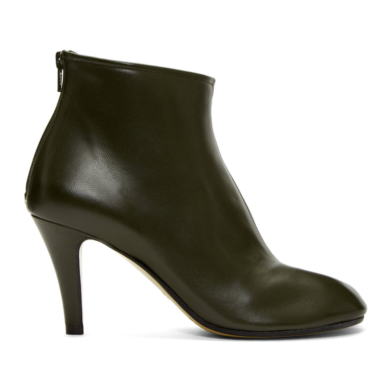 Ssense Exclusive Green Stiletto Tabi Boots by Maison Margiela