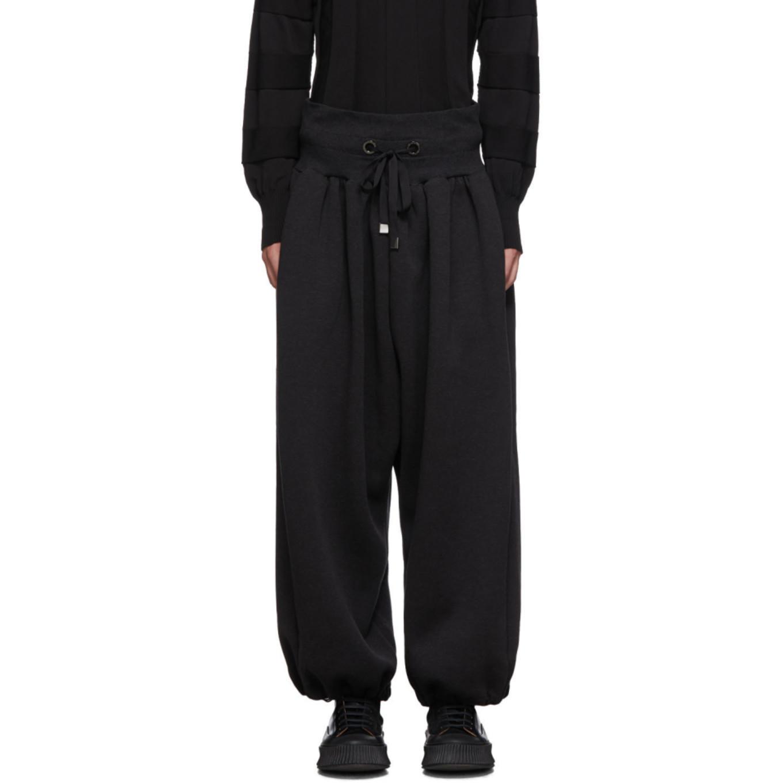 Black Parkour Lounge Pants by Fumito Ganryu