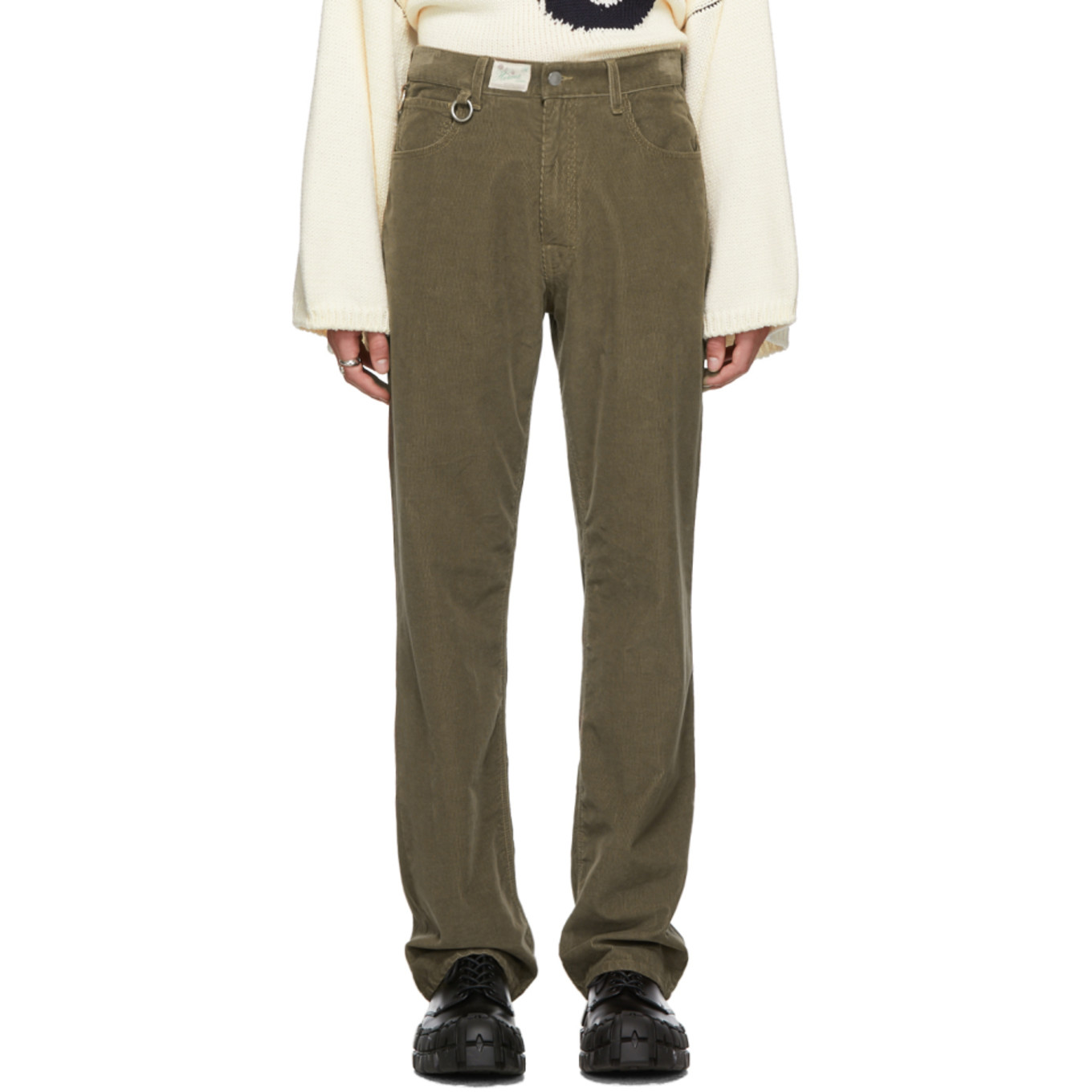 Brown Heroes & Losers Relaxed Fit Trousers by Raf Simons
