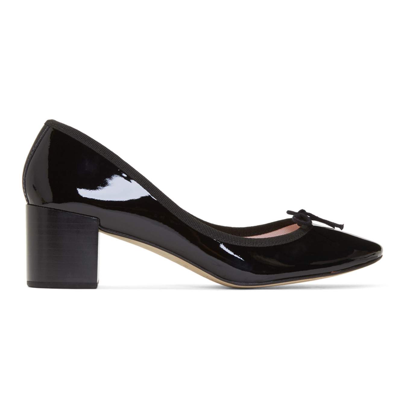 Black Patent Farah Heels by Repetto
