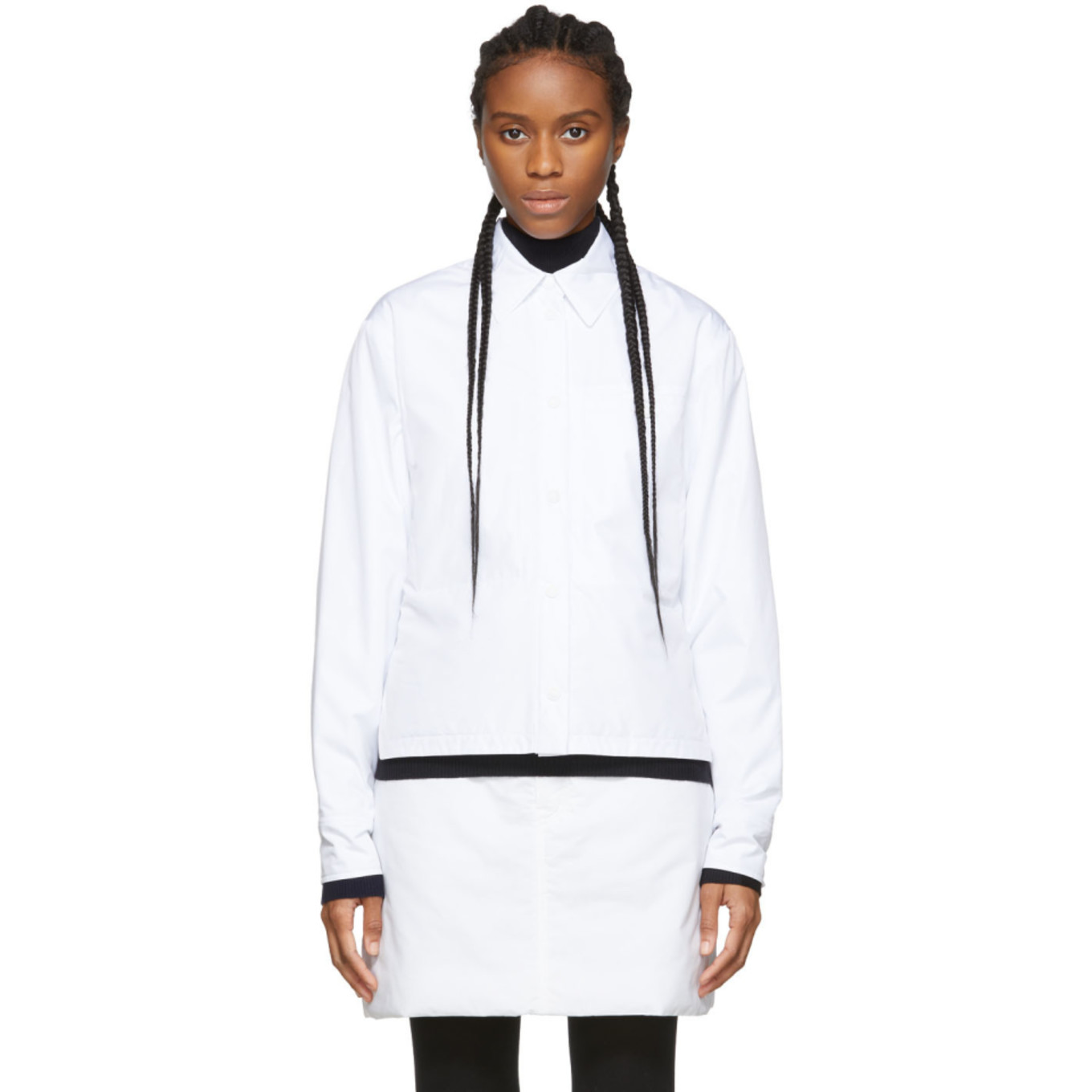 White Rolle Shirt Jacket by Sportmax