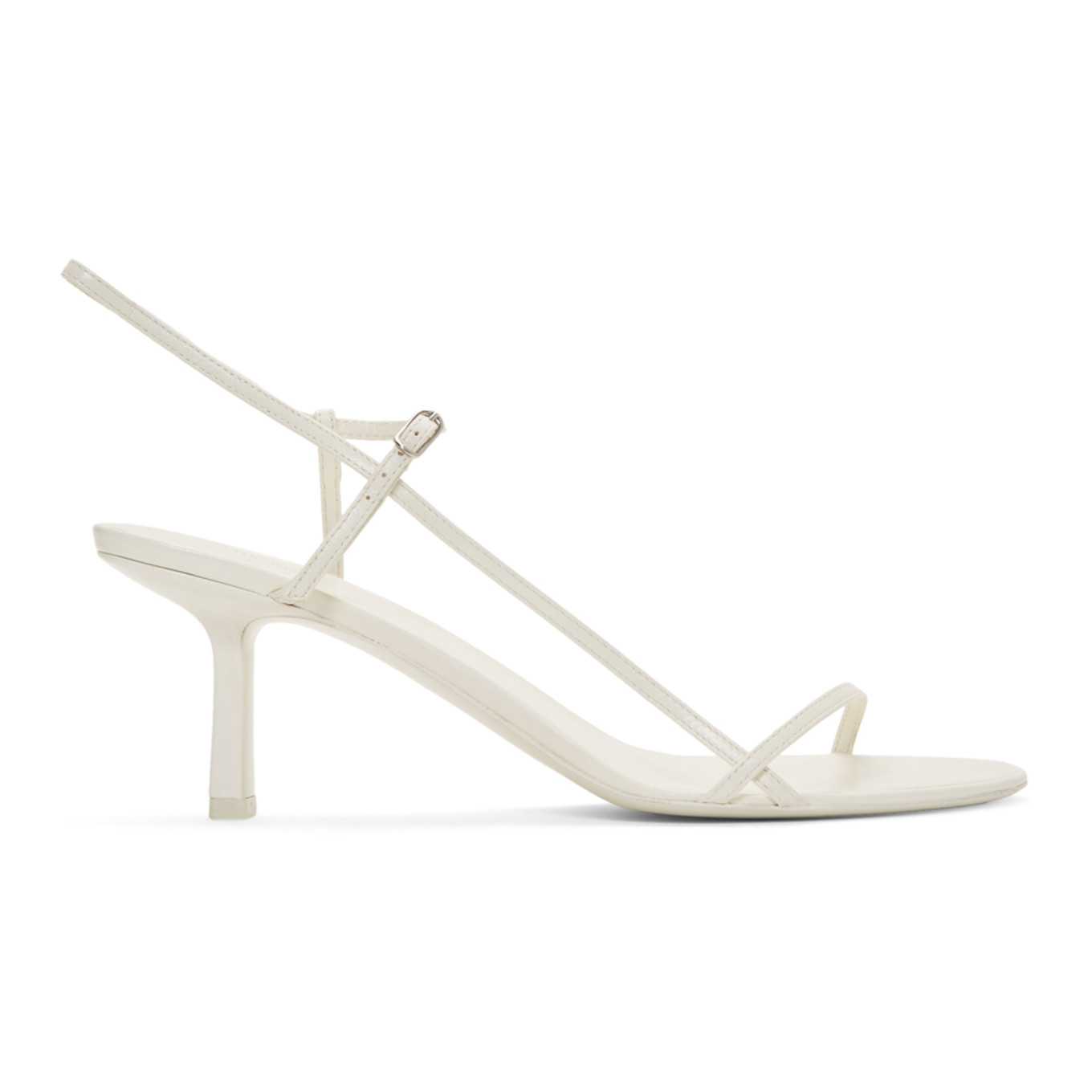 White Bare Heeled Sandals by The Row