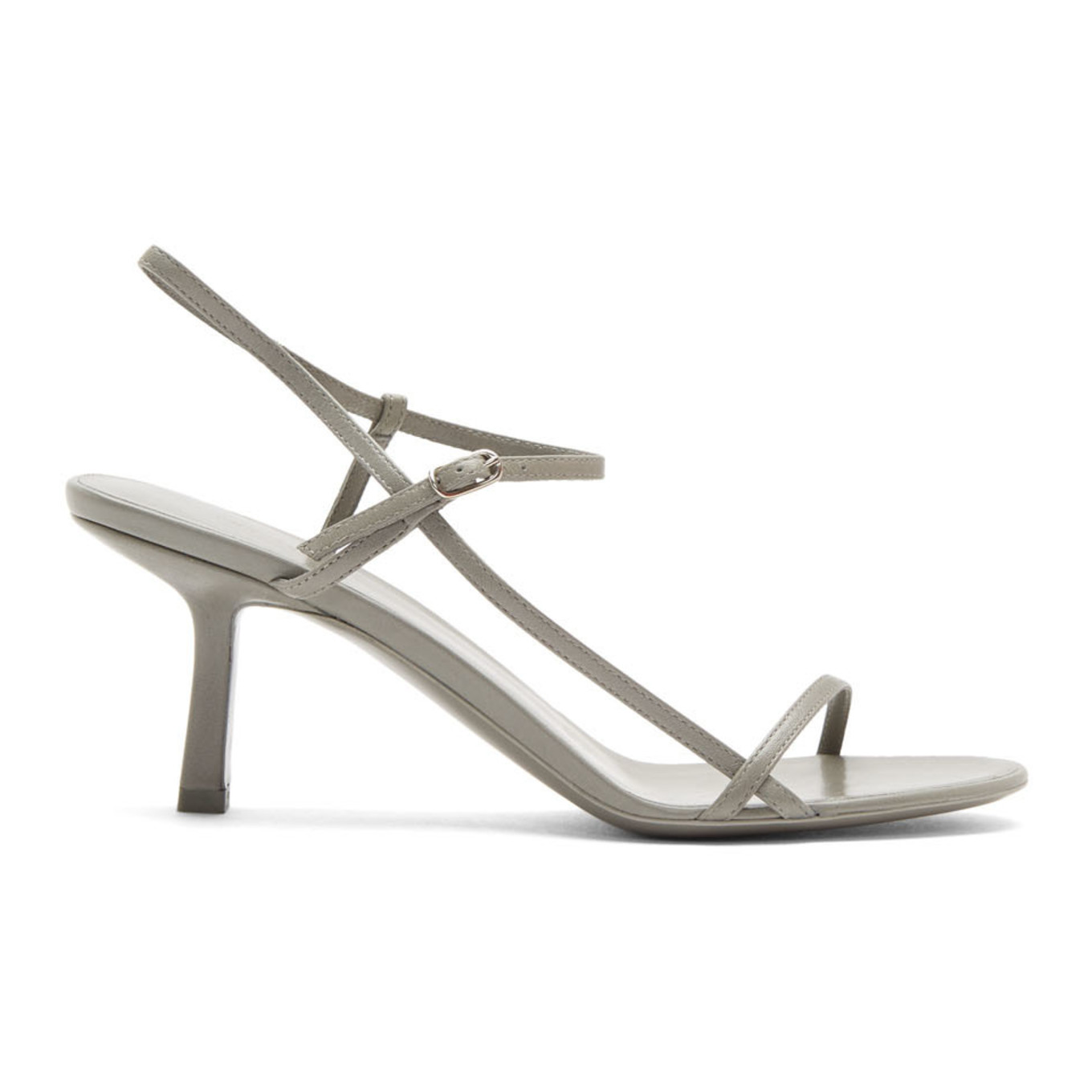 Grey Bare Heeled Sandals by The Row
