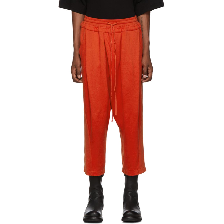 Orange Tucked Baggy Lounge Pants by Julius