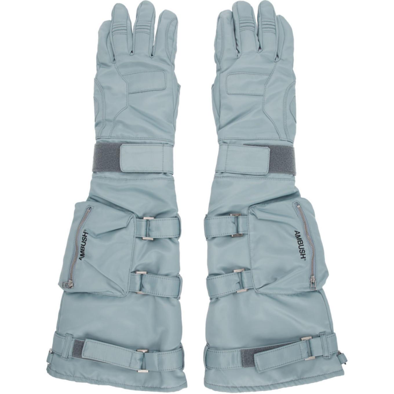 Blue Astro Gloves by Ambush