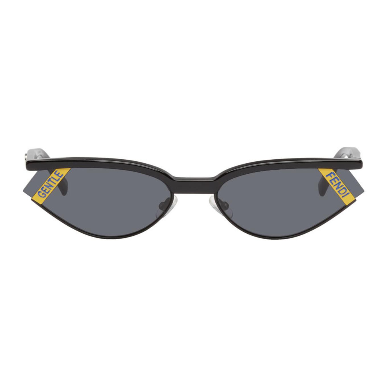 Black Fendi Edition 'gentle Fendi' No. 1 Sunglasses by Gentle Monster