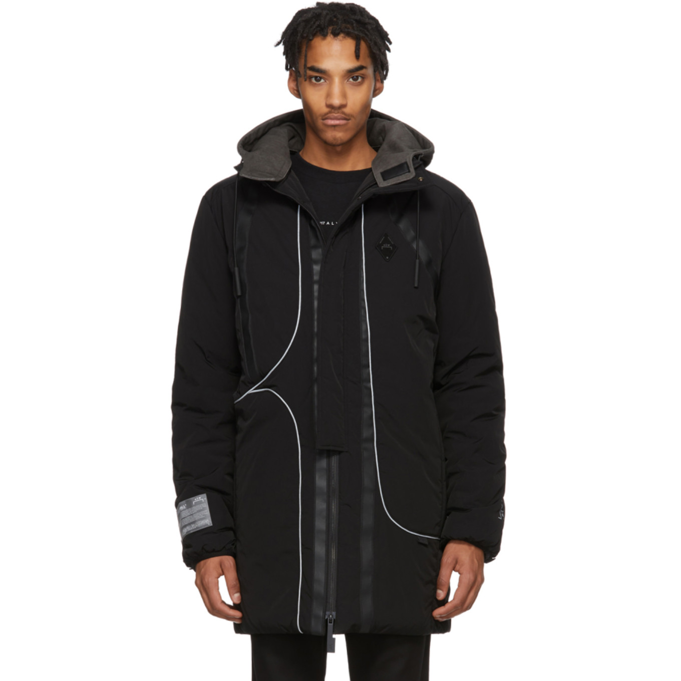 Black Memory Crinkle Puffer Coat by A Cold Wall*